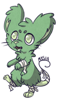 Zombie mouse by Mysiaapl