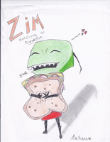 zim with a sandwich by dracosgirl400