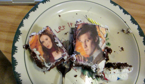 dr who face cake XD by chappy-rukia