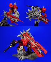 Bionicle - Lava Dreadnought + Tahu Armor Set A by Lalam24