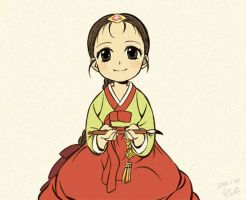 Hanbok girl by eclie
