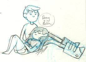 Bravest Warriors Danny and Beth by sampdesigns