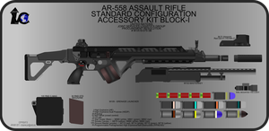 AR-558 Rifle New WIP 3 by Jon-Michael-May