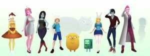3D Adventure Time Characters by Mikeinel