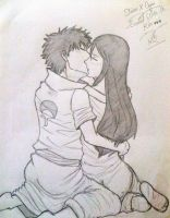 [Request] ~ Shisui X Cajaii ~ Sealed With A Kiss ~ by loony-pencil