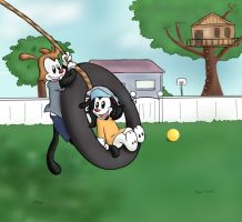 The Tire Swing by AyakoOtani