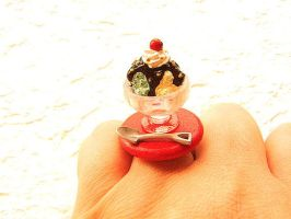 Ice Cream Sundae Ring by souzoucreations