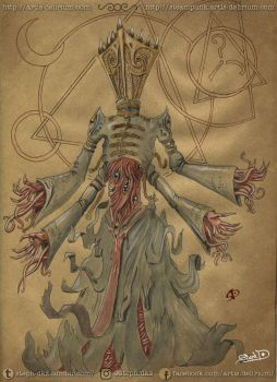 Demon Priest of Hastur by stephtlm