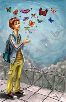 butterfly by remstan