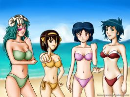 Anime Crossover Beach Special4 by grandchaosSR