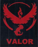 Team Valor Duct Tape Print by DuctileCreations