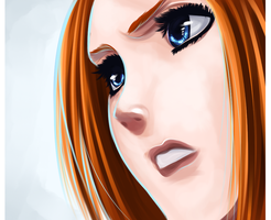 Paitning Orihime by iGeerr
