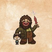 Hagrid and Harry by vanja