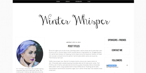 Winter Whisper Blogger Template by candypow