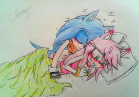 Sonamy cuddling-My heart flutters too much... by Krystalkate-the-wolf