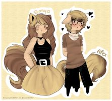 Sonya and Alex revamp by Drawing-Heart