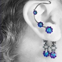 Heliotrope industrial ear wrap v8- SOLD by YouniquelyChic