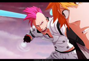 Ichigo Vs Bazz B - Bleach 585 by iFeerGirl