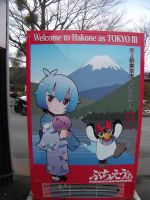 Evangelion vending machine Hakone Japan by chaobreeder16