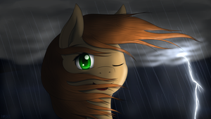 Amber enjoying the storms by ImShySoIhide