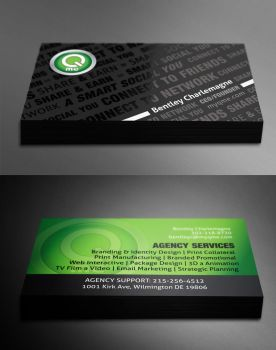 Qme card UV design by ahsanpervaiz