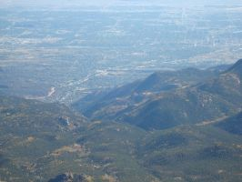 Colorado Springs from Pikes Peak by Davidk1960