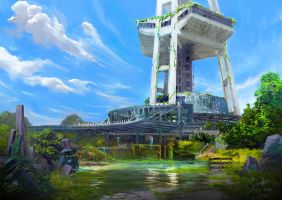 Overgrown Space Needle by danielLEVELUP