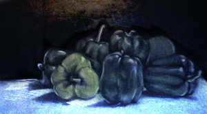 still life bell peppers by Springkiwi
