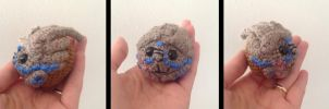 Garrus amigurumi - head in progress by ninjapoupon