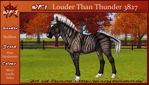 3827 WF's Louder Than Thunder by SWC-arpg