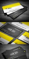 Retro Music Clup Business card by calwincalwin