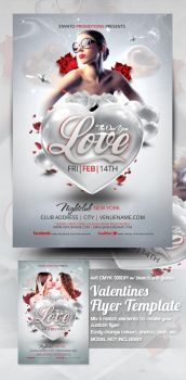 Valentines Flyer Template by mrkra