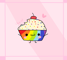 RAINBOW CUPCAKE FOR YOU! by RainbowSnowSocks