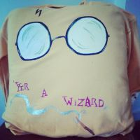 Custom Painted Harry Potter Sweater (front) by MandayisRunner4life