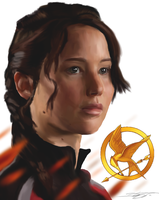 Katniss - The Volunteer by ArchXAngel20