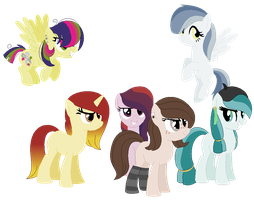 New Mane Six by xx-Chanour