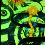 trippy mushroom black light poster by xx-kittymeowmeow-xx