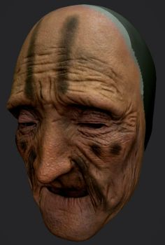 Old Lady Face - WIP by shellcasing