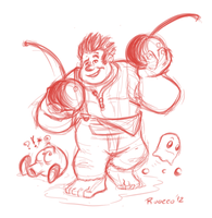 Wreck-It Ralph Sketch by MichaelJRuocco