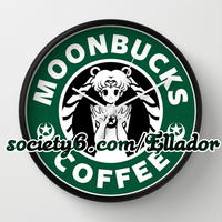 Moonbucks Coffee Clock by Elladorine