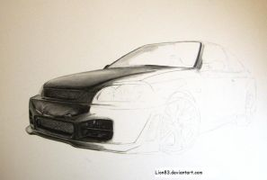 Drawing a Honda Civic step3 by Per-Svanstrom