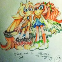 Floe and viburn: color pencils by Patrial