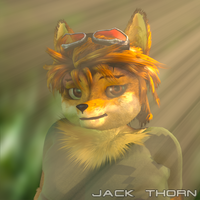 A forest Jackal by JackThorn24