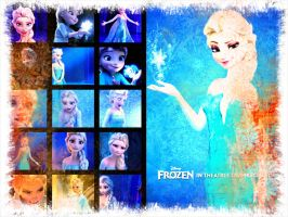 Queen Elsa by BlueRosePetalsQueen