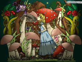 Alice in wonderland coloured by Hotaru-oz