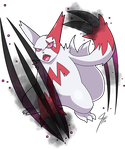 Zangoose Used Shadow Claw by TamarinFrog