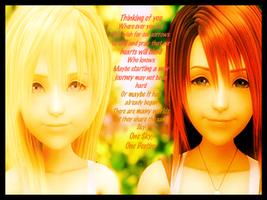 Kairi and Namine by onwskyonedestiny421