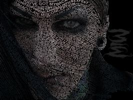Typographic portrait of Chris Motionless by 6the6metal6head6
