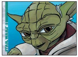 2008 Clone Wars Sketch Card by grahamart