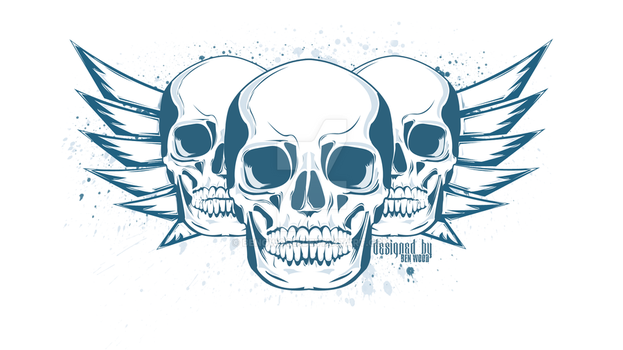 Skull Vector by BenGWood